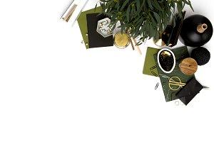 Green Styled Stock Desk