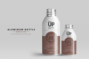 Aluminum Bottle Mockups