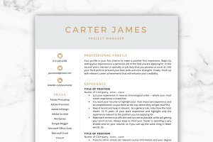 CV Template/Resume - Carter