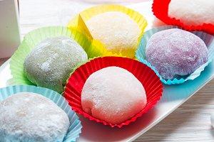 Traditional Japanese Mochi dessert