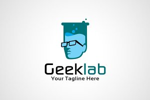 Geek Lab Logo Template