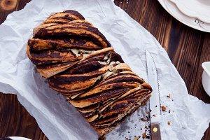 Swirl Brioche with chocolate