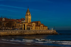 View of Gijon Asturias the Northern
