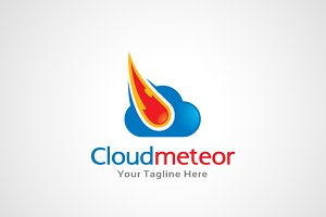 Cloud Meteor Logo Template
