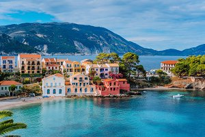 Beautiful panoramic view of Assos
