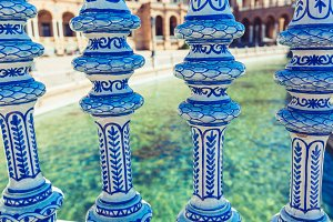 Plaza de Espana Balustrade Detail, S