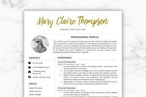Resume Template/CV - Mary