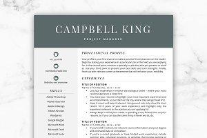 CV Template/Resume - Campbell