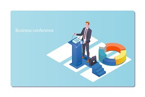 Business conference invitation