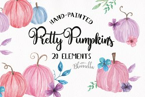 Pretty Pastel Pumpkins Elements