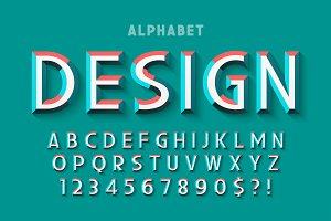 Original display font with facets