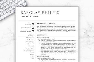 Resume Template/CV - Barclay
