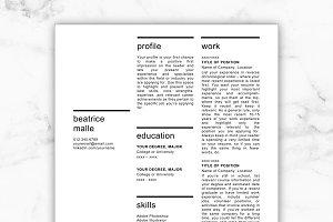 Creative Resume Template - Beatrice