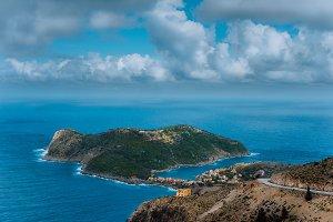 Picturesque view of Assos village