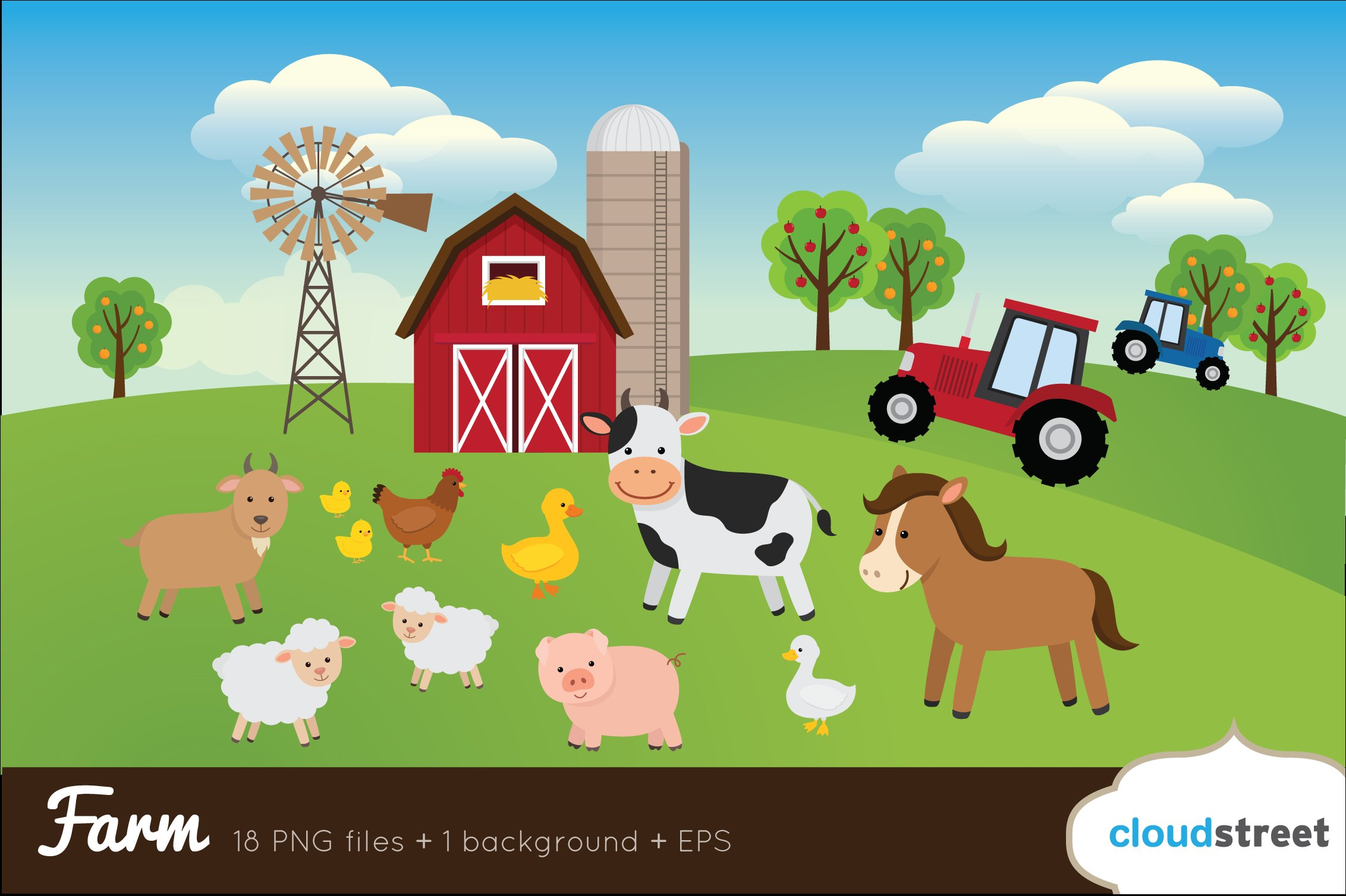 Farm Clip Art ~ Illustrations ~ Creative Market