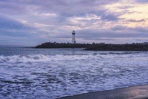 Sunrise above Santa Cruz Lighthouse