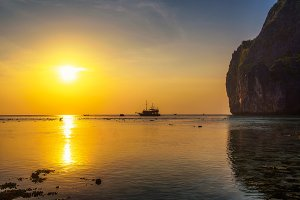 Sunset at the Koh Phi Phi island