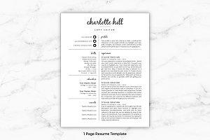 Resume Template/CV - Charlotte