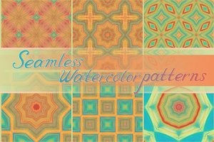20 seamless watercolor patterns