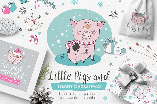Little Pigs Christmas Collection