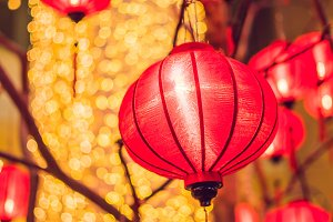 Chinese lanterns during new year