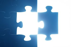Jigsaw puzzle piece missing