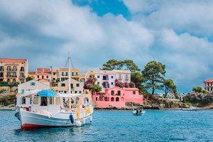 View of beautiful bay of Assos