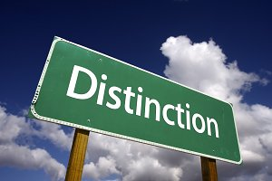 Distinction Road Sign