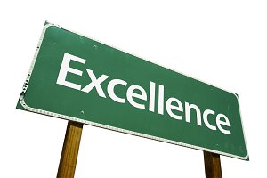 Excellence Road Sign