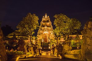 Amazing night view of Pura Taman
