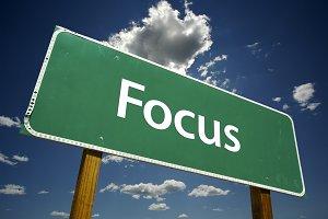 Focus Road Sign