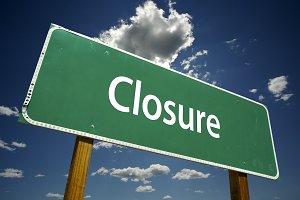 Closure Road Sign