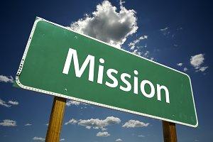 Mission Road Sign