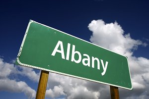 Albany Green Road Sign