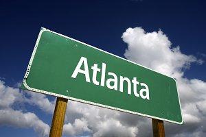 Atlanta Green Road Sign