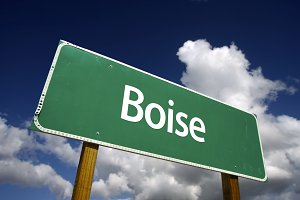 Boise Green Road Sign
