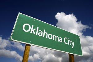 Oklahoma City Green Road Sign