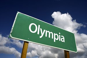 Olympia Green Road Sign