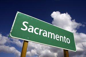 Sacramento Green Road Sign
