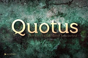 Quotus Slab Bracketed -8 fonts-