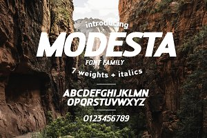 MODESTA SANS - THE NEW BRANDING FONT