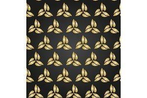 Floral Fine Seamless Vector Golden