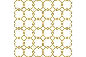 Seamless Vector Golden Pattern in
