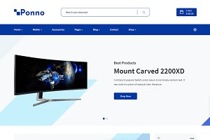Ponno Electronics eCommerce Template
