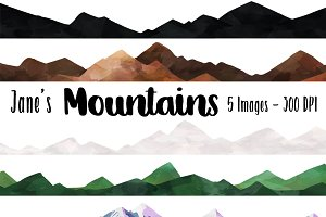 Seamless Mountain Clipart