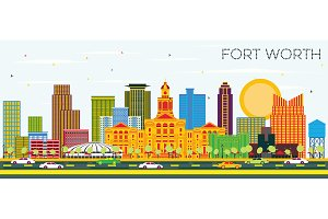 Fort Worth Texas City Skyline