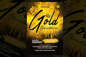 Gold Christmas Flyer Templates
