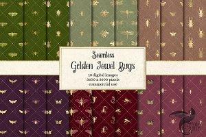 Golden Jewel Bug Digital Paper