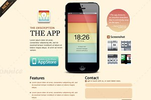 light-brown iPhone App Web template