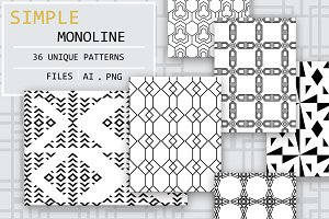 Monoline Geometric Patterns